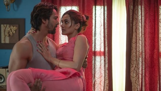 Haseen Dillruba movie review; Taapsee Pannu and Harshvardhan Rane in a still from Vinil Mathew's Netflix film.