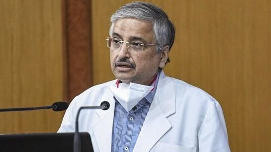 Dr Randeep Guleria, director of the All India Institute of Medical Sciences (AIIMS).(PTI photo)