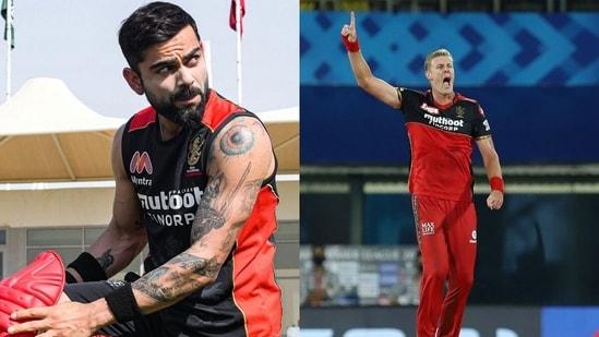 Virat Kohli and Kyle Jamieson are teammates at RCB. (RCB/Twitter)