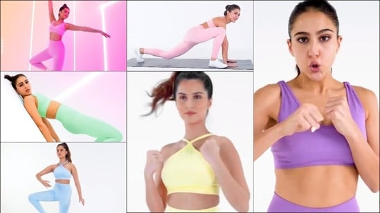 Sara Ali Khan, Tara Sutaria inspire millennial fashion in pastel athleisure wear(Instagram/tarasutaria/saraalikhan95)