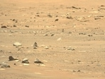 This photo shows Nasa's Ingenuity Mars Helicopter after its sixth flight, captured by the Mastcam-Z imager aboard Nasa's Perseverance rover.(Nasa File Photo)