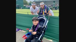 Sania Mirza poses with her son Izhaan and women's doubles partner Bethanie Mattek-Sands.