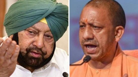 Punjab CM Captain Amarinder Singh and Uttar Pradesh (UP) chief minister (CM) Yogi Adityanath
