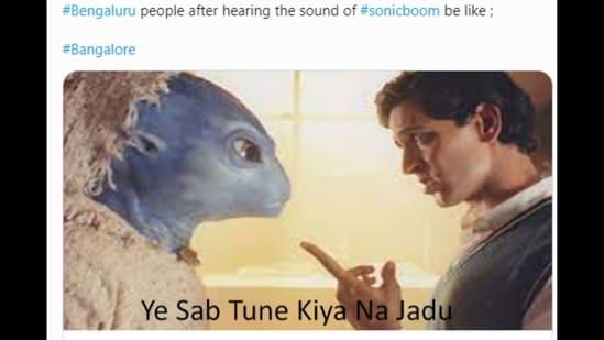 Alien meme flooded Twitter after sonic boom heard in Bengaluru on World UFO Day.(Twitter)