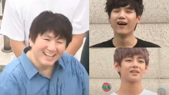 BTS members Suga and V hilariously rant about Bang Si-Hyuk in this throwback video.
