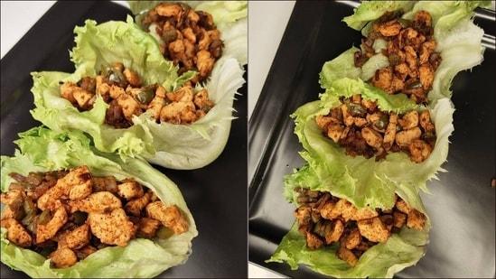 Recipe: Welcome the weekend with crispy, crunchy Fajita Iceberg Chicken Wraps(Instagram/alimentbyalvinachhapra)