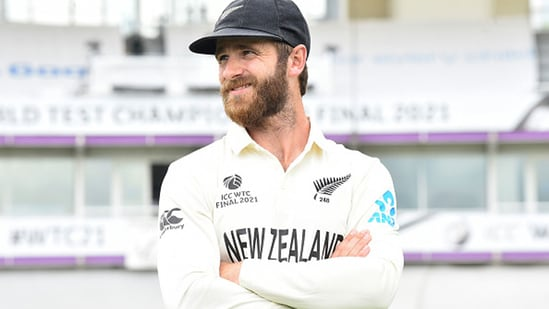 Kane Williamson straightaway had to be involved in 'daddy duties' after New Zealand's WTC win. (Getty Images)