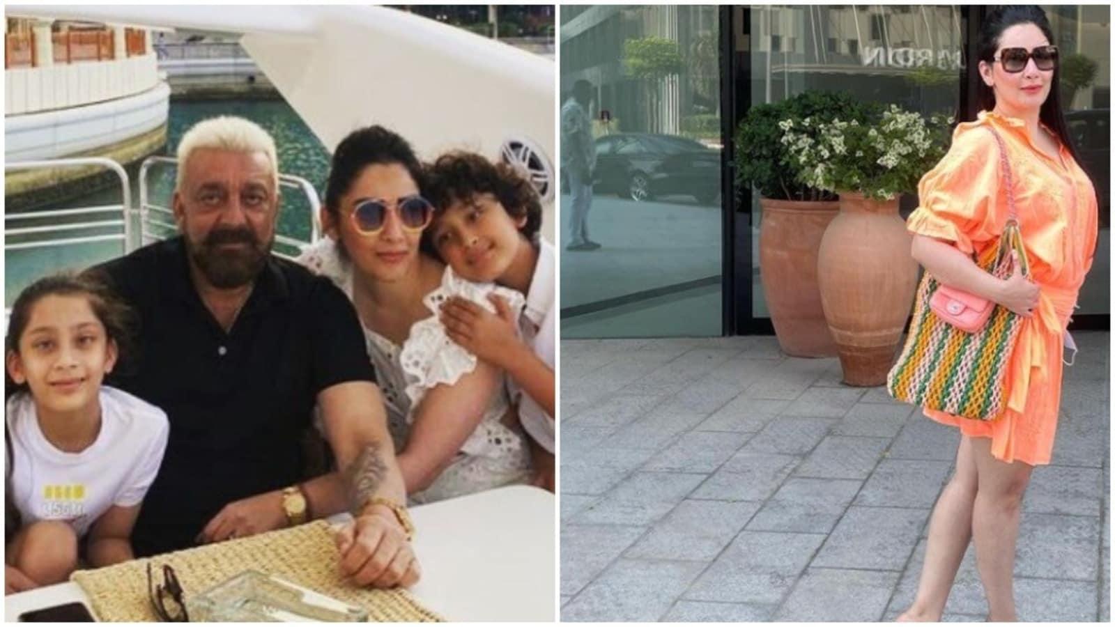 Sanjay Dutt's wife Maanayata shares an unseen photo with him, but can you spot him?     Bollywood