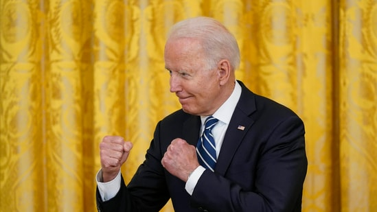 Quoting a report from the American Farm Bureau Federation, the White House said that the economic plan of President Joe Biden is working.(AP)