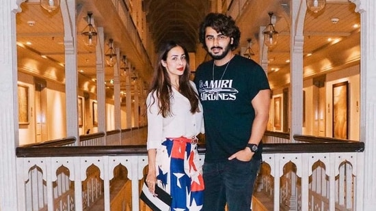 Malaika Arora and Arjun Kapoor strike a pose in this picture from a recent staycation.