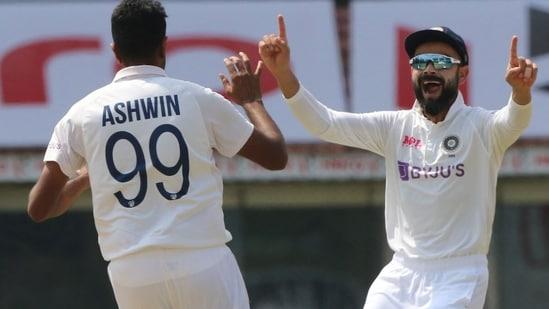 R Ashwin and Virat Kohli celebrate a wicket. (BCCI)