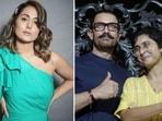 Hina Khan responded to Aamir Khan and Kiran Rao's divorce announcement.