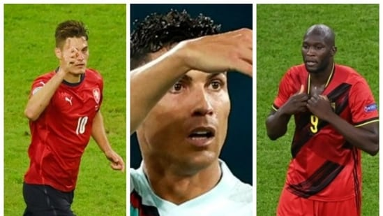 Euro 2020: Current leader in the race to Golden Boot ahead of semifinals involving Cristiano, Ronaldo Patrik Schick and Romelu Lukaku.(HT Collage)