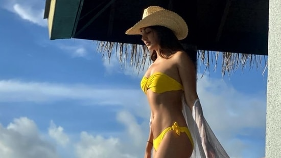 Kiara Advani shared a picture from one of her previous vacations in the Maldives.