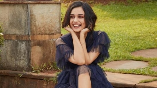 Manushi Chhillar's dreamy look in a blue tulle gown is straight out of fairytale(Instagram/@manushi_chhillar)