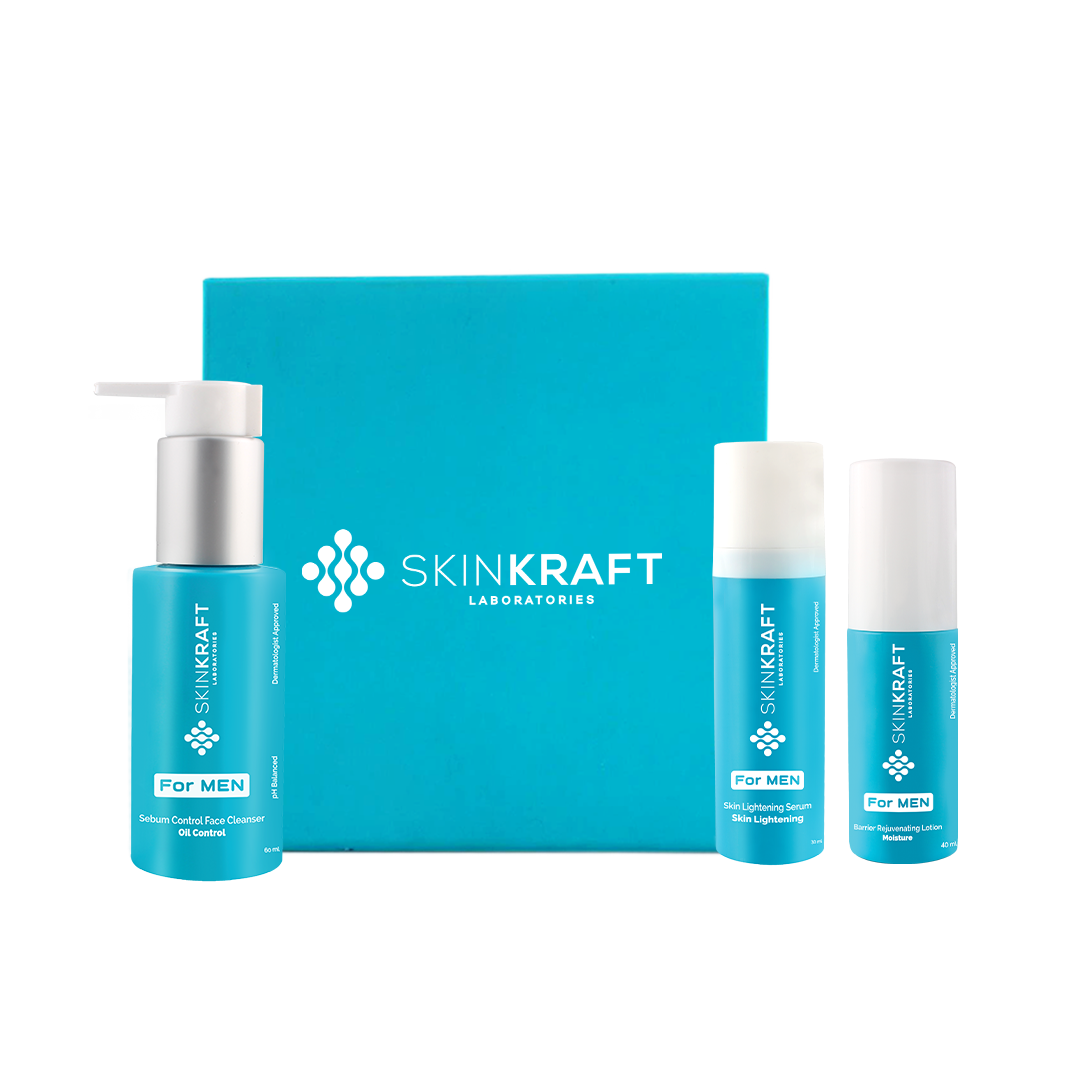 This kit improves your skin pretty quickly