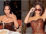 Kim Kardashian in mini vinyl dress has her Dolce Vita moment at Trevi Fountain(Instagram/@kimkardashian)