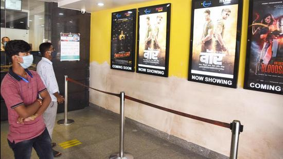 Cinema halls in Patna like Mona and Elphinstone are considering offering discount on tickets to promote the vaccination drive. (HT Photo/Representative)
