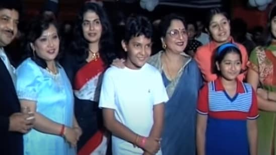 A picture from Aditya Narayan's 13th birthday party.