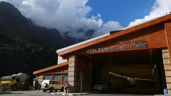 The Atal Tunnel was inaugurated by PM Modi in October last year.(HT File Photo)