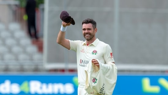 Twitter cannot keep calm after James Anderson (in frame) picks up 1000th first-class wicket.(TWITTER/LANCASHIRE)