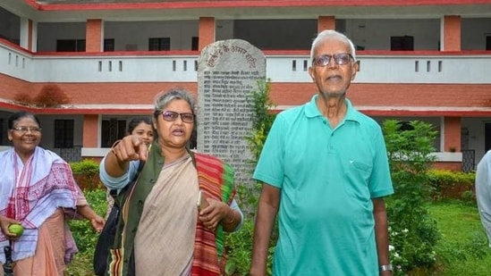 Stan Swamy, the Jesuit priest who was arrested last year under the Unlawful Activities (Prevention) Act in connection with the Elgar Parishad case, died after suffering a cardiac arrest on Monday.(PTI)