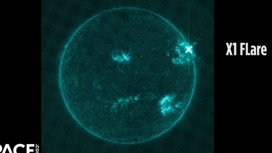 Solar flares are categorised as A, B, C, M or X--A being the smallest and X being the brightest and largest. (Screengrab from video posted by VideoFromSpace)