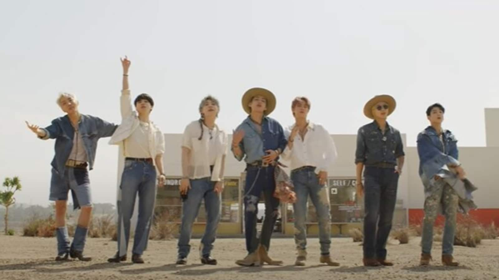 BTS Permission to Dance teaser has fans gushing over 'Cowboy Taehyung',  Butter rules Hot 100 for 6th week - Hindustan Times