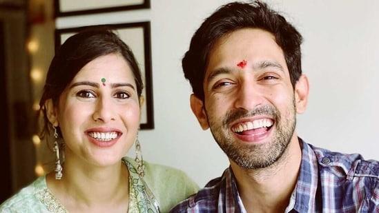 Vikrant Massey with fiancee Sheetal Thakur.
