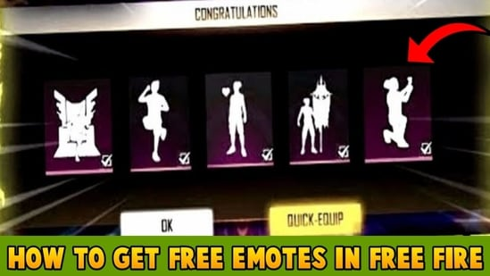 Free Fire includes an array of the coolest emotes