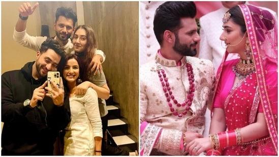 Aly Goni with couple Rahul Vaidya-Disha Parmar and his girlfriend Jasmin Bhasin.