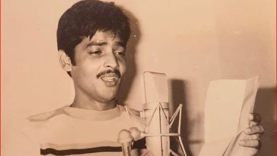 Udit Narayan has shared a throwback pic of his first recording for a Bollywood song, as he completes 41 years in the industry.
