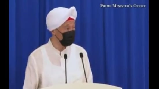 The image shows the Prime Minister of Singapore Lee Hsien Loong.(Twitter@parrysingh)