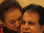Late actor Dilip Kumar with wife Saira Banu.(Vijayanand Gupta/ HT Photi)