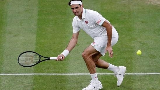 Wimbledon - Switzerland's Roger Federer in action.(REUTERS)