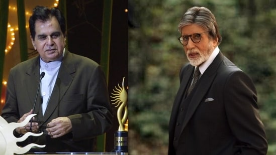 Dilip Kumar and Amitabh Bachchan worked together in Shakti.