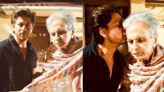 """2018 में, दिलीप कुमार के दोस्त फैसल फारूकी ने महान अभिनेता से मिलने शाहरुख की ये तस्वीरें ट्वीट की थीं।  मुंबई मिरर से बात करते हुए सायरा बानो ने एक बार कहा था, """"मैंने हमेशा कहा है कि अगर हमारा बेटा होता तो वह शाहरुख की तरह दिखता।"""" वह 2017 में भी दिलीप से मिलने गए थे।"""