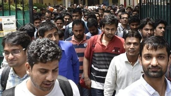 DSSB Recruitment exams schedule out(Arvind Yadav/HT PHOTO)