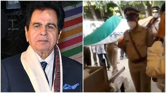 Dilip Kumar was accorded a state funeral on Wednesday.