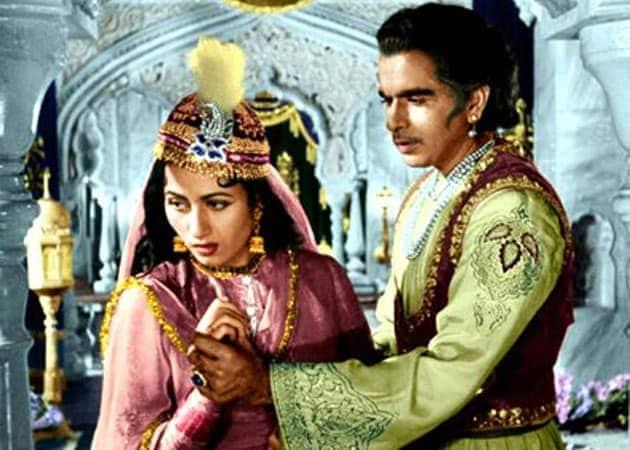 Madhubala و Dilip Kumar في Mogul-E-Azam (لقطة شاشة)