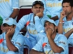 Irfan Pathan said Rahul Dravid (L) had motivated him and Dhoni in the 2007 World Cup(Twitter)