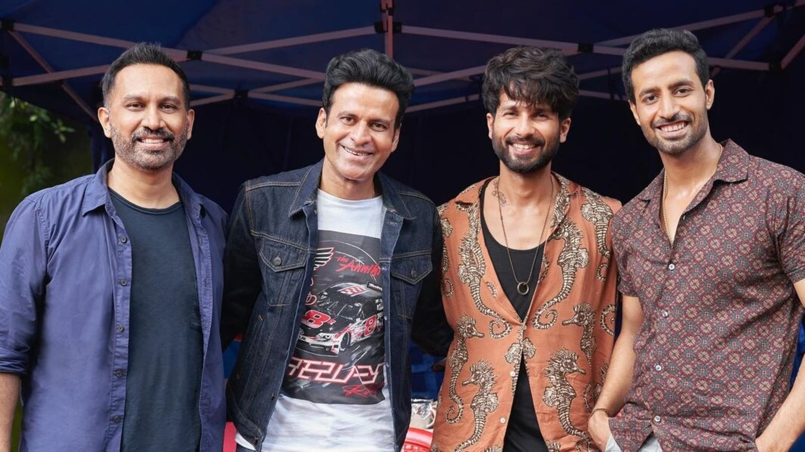 Raj and DK share pic with their sequence heroes Manoj Bajpayee, Shahid Kapoor, followers name it 'awesomeness in a pic'
