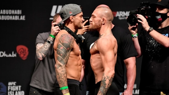 FILE PHOTO: Dustin Poirier and Conor McGregor.(USA TODAY Sports)