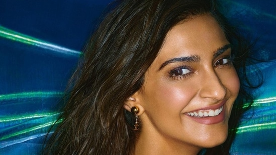 In most of the images Sonam showed off her gorgeous tan complexion, sporting minimal make-up as she beamed at the camera.(Instagram)