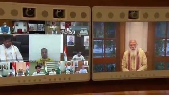 Prime Minister Narendra Modi met the new council of ministers on Thursday via video-conferencing.