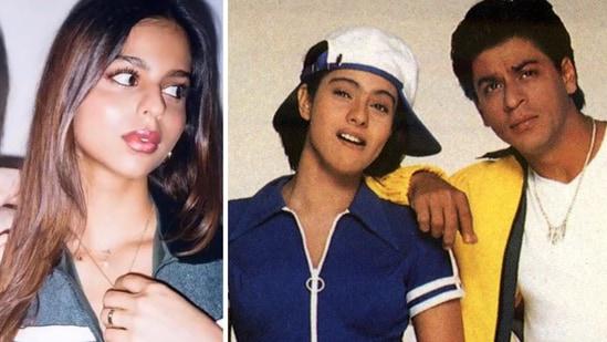 Suhana Khan, (R) Kajol and Shah Rukh Khan in Kuch Kuch Hota Hai(Instagram)