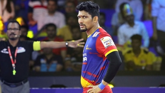 In season 7, Rishank Devadiga pocketed 77 points, far from his best-ever of 170 in season 5. (UP Yoddha/Twitter)