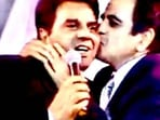 Dharmendra with late actor Dilip Kumar.