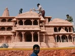 Shri Ram Janmbhoomi Teerth Kshetra Trust has been entrusted with the task of Ram temple construction in Ayodhya. (Reuters)