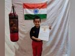Five-year-old Arindam Gaur creates world record.(Twitter)